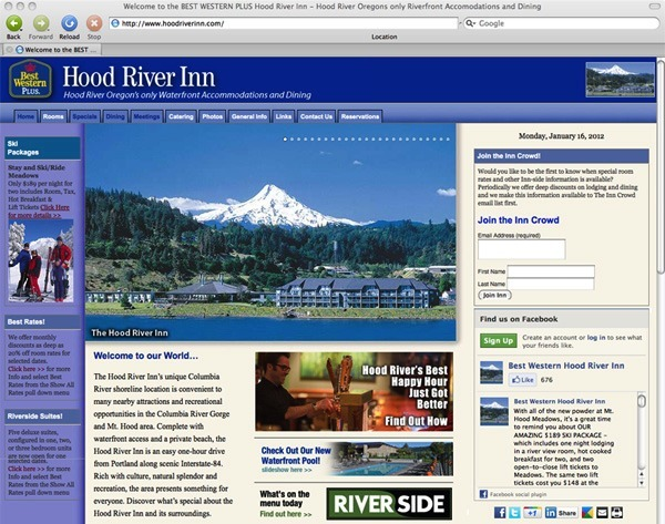 Hood River Inn Web