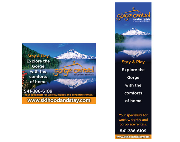 Gorge Central Reservations Banner Ads