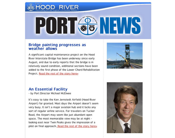 Port of Hood River Enews